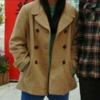 🚚 實穿 卡其大衣外套