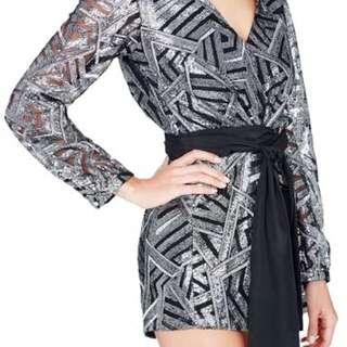 Sass & Bride Sequin Jumpsuit size 12-14