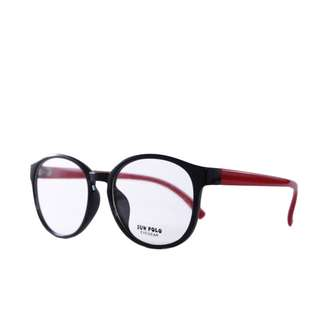kacamata-frame-tebal-model-korea-sun-polo-in-red-maroon