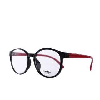 kacamata-frame-tebal-model-korea-sun-polo-in-red-maroon