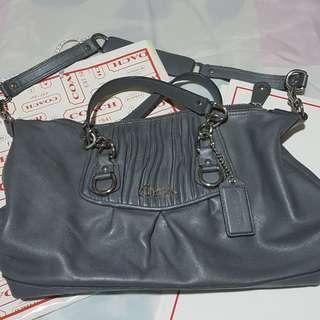 Authentic Coach Leather Baguette Handbag