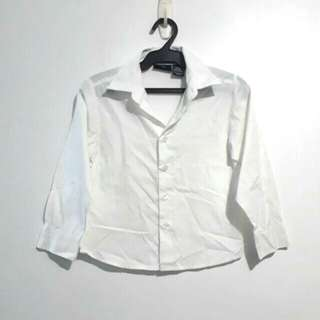 (7Y) Dockers white formal polo top