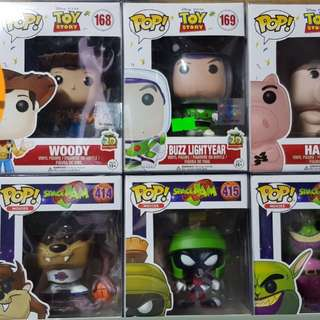 Toy Story set and Space jam Set Funko pop