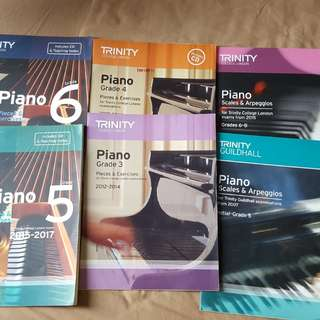 Trinity piano books scales exam pieces