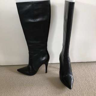 Black Calf Boots size 35