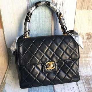 Chanel Vtg羊皮手挽包