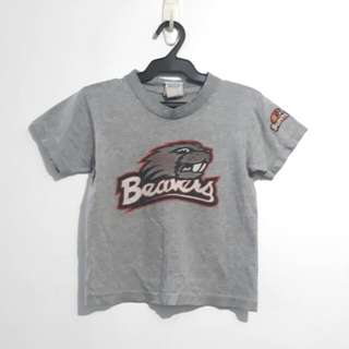 (6-8Y) Official Beaver wear gray top