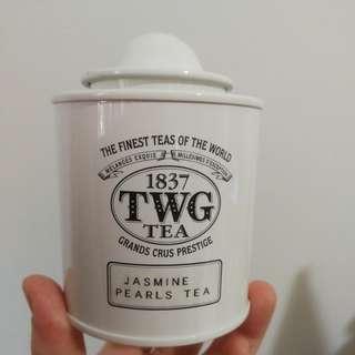 TWG white tin with box (no tea leaves)