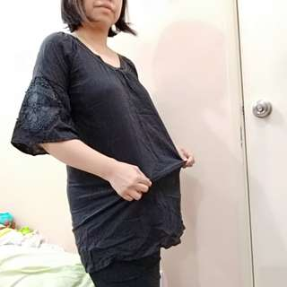 Black top maternity