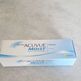 Clear daily contact lens