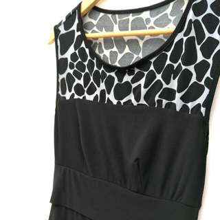 Black Lastic Dress with built padding