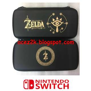[BN] Nintendo Switch Legend of Zelda BOTW Deluxe Carrying Travel Case with 3 Cartridges Slots (Brand New)