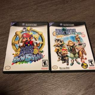 Super Mario sunshine + Final fantasy crystal chronicles