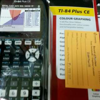 brand new ti 84 plus ce graphic calculator with manual and 2yrs warranty