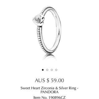 Sweetheart Pandora Ring