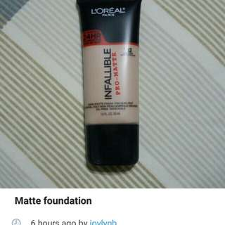 Matte liquid foundation