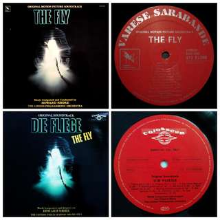 Vg+ The fly soundtrack record vinyl ost