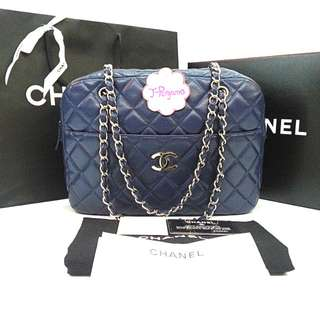 Authentic Chanel Quilted Caviar LargeCamera Case Bag SHW {{ Only For Sale }} ** No Trade ** {{ Fixed Price Non-Neg }} ** 定价 **