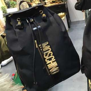 超罕有已絕版 Moschino Black Colour Big Backpack Bag Vintage 背包 背囊 手袋