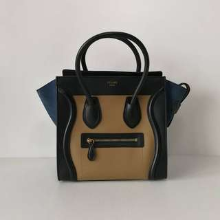 Authentic Celine Micro Luggage Bag