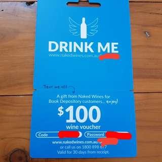 2 Naked Wine $100 Voucher