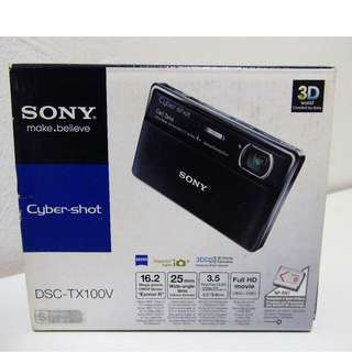 Brand New Sony TX-100V Pocket Camera! With Original Case and Extras! MSRP $350