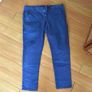 Blue Skinny Chinos for men