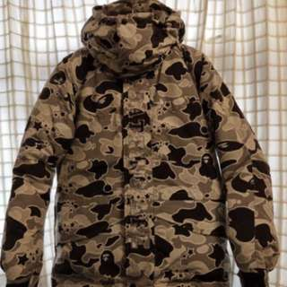 Bape 雪褸羽絨 Size s $1800