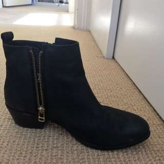 Black Windsor smith ankle boots