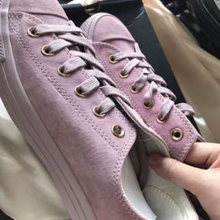 BRANDNEW Converse All Star Low Leather Burnished Lilac Rosegold Exclusive