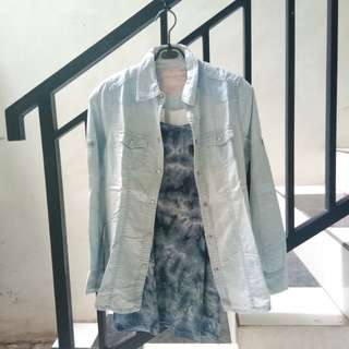 Bundling denim blouse
