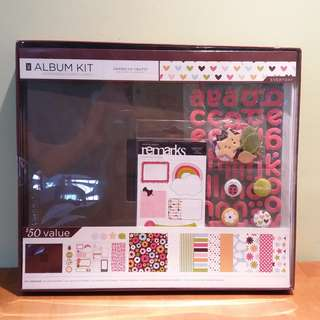 BNIB  American Crafts 12inx12in Album Kit (Scrapbook)
