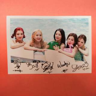Red velvet Polaroid picture