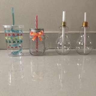 NEW Aesthetic fun drinking jars 🍹