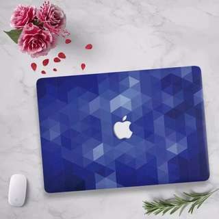 Dark blue navy prism triangles MacBook Hard Cover case