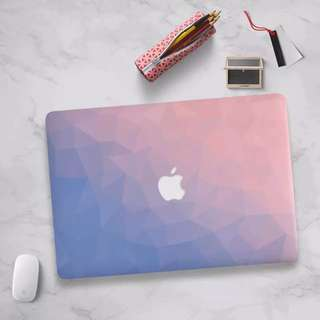 Pink x purple Gradient prism MacBook Hard Cover case