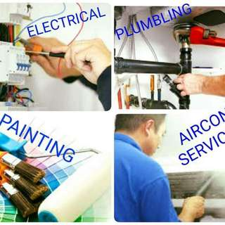 Painting electrical plumbing aircon servicing