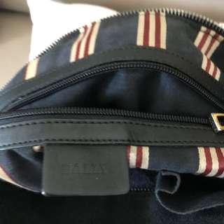 Bally 黑色猄皮靚手袋