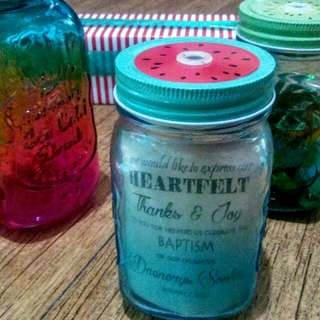 Mason Jar souvenir for birthday and baptismal