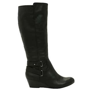Brand new in box black leather wedge boot from Aldo size 7