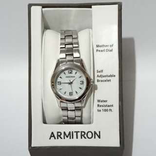 Armitron mother of pearl watch
