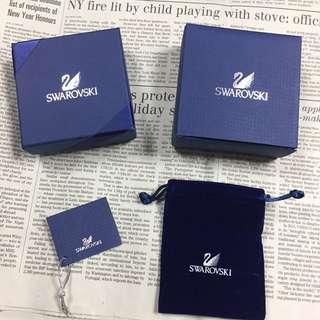 🚚 Sawarovski 首飾盒含禮盒+絨布袋+吊卡+外裝盒+提袋