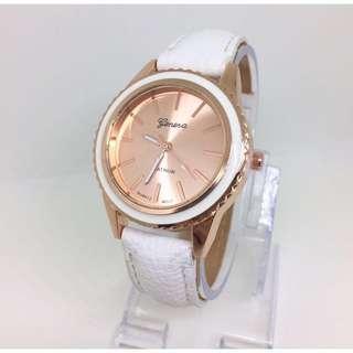 Jam geneva white putih watch