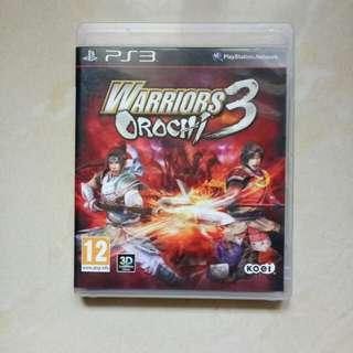 BD PS3 WARRIORS 3 OROCHI ( REG 2 )