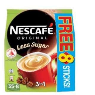 Brand New Sealed Nestle Nescafe 3 In 1 Less Sugar Coffee