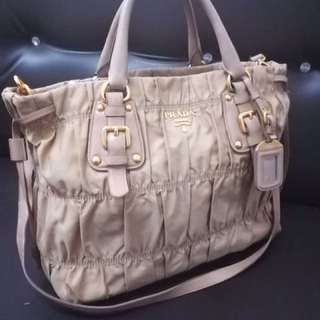 Authentic prada gaufre nylon