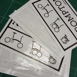 Brompton Main Frame Decal