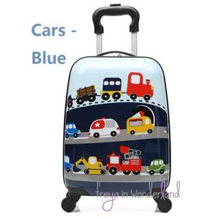 Car 18 Inch Kids Luggage Suitcase Cartoon Design Gift Idea