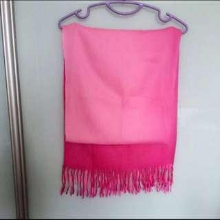 Long hot pink shawl scarf