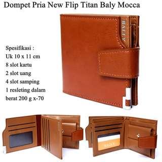 Dompet Pria Kulit New Flip Titan baly mocca